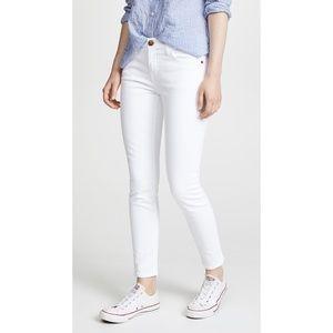 NWT Current Elliott The Stiletto Jeans Sugar White
